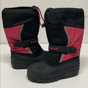 LL Bean Kid's Black Pink Northwoods Winter Boots 2